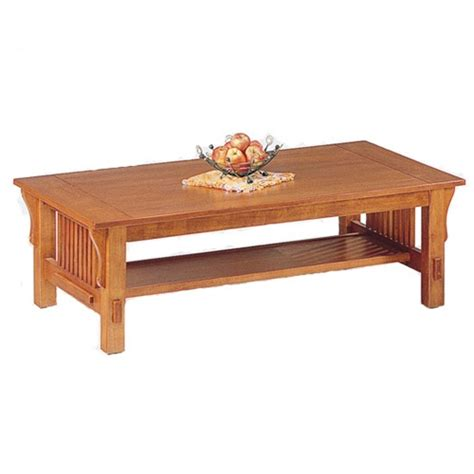 Mission Oak Coffee Table By Coaster 3026 Mission Oak Coffee Table