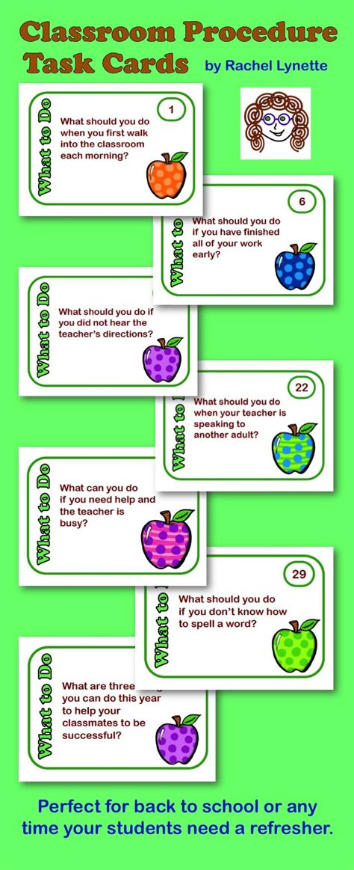 cards for classroom kallen8372 classroom procedures