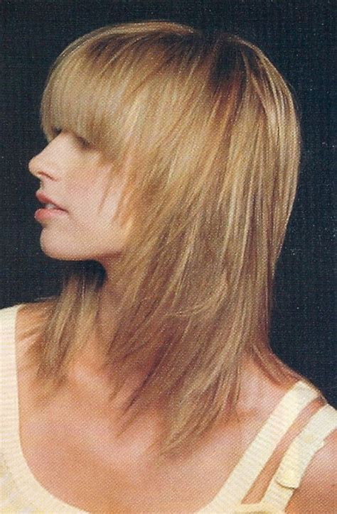 long shag hair cut pics front and back view medium long layered hair with side bangs foto bugil 2017