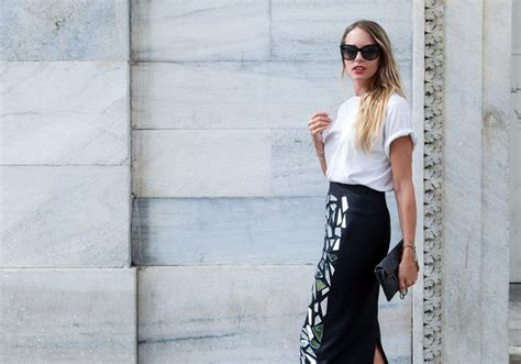 t shirt and pencil skirt the of v