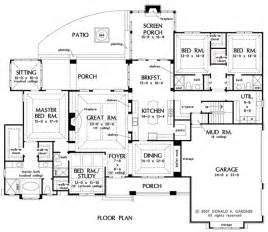 one story floor plans with bonus room floor house plan