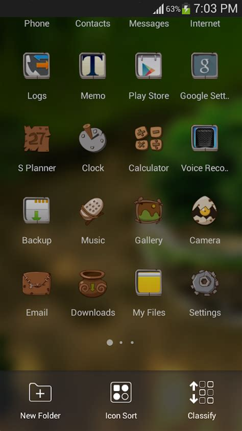 themes for android in hd green nature hd theme comic android themes free android