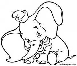 printable coloring pages dumbo shy disney characters printable coloring pages kids