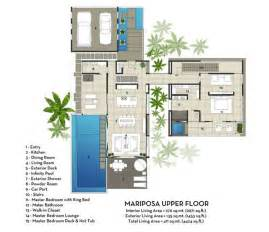 villa home plans contemporary mariposa villa with stunning views