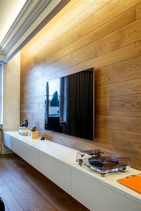 wohnzimmer aus holz 43 designs wandpaneel aus holz