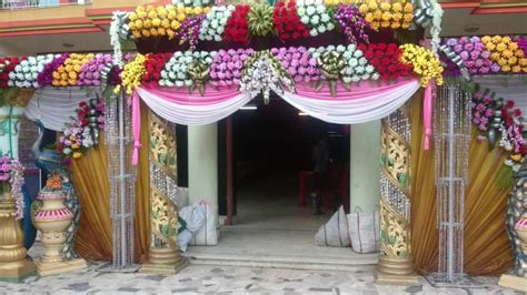 Flower Wedding Decoration by Weddin Flower Decoration Gate Munna 9339971327