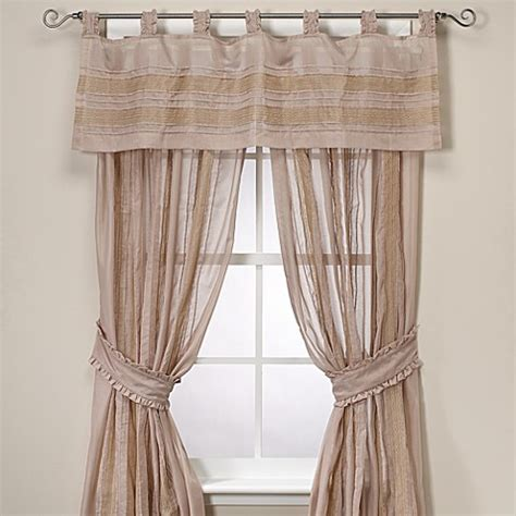 tab top sheer curtain panels vintage chic annabelle sheer tab top window curtain