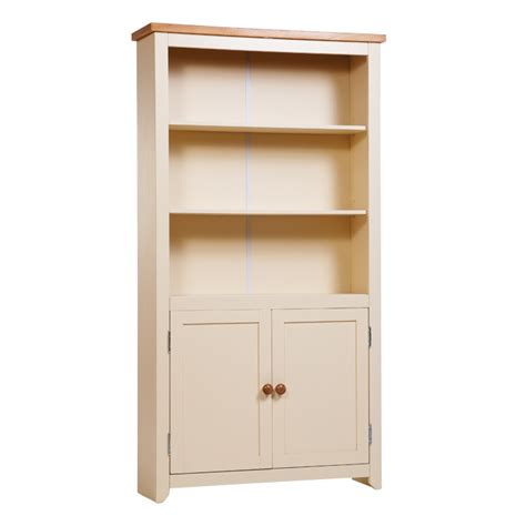 farmhouse bookcase with doors mfp furniture