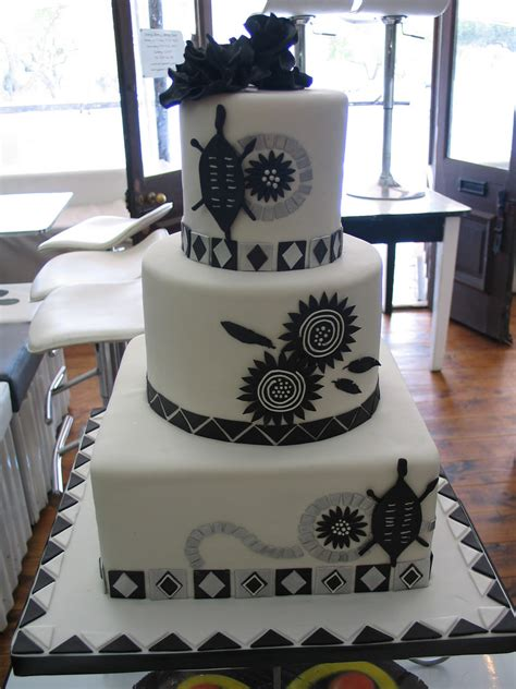 Ankh Decor Black Amp White African Traditional Wedding Cake In Deliciou