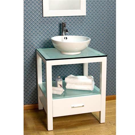 sink console vanity 24 quot mila console vanity with vessel sink bathroom