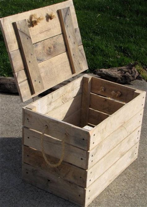 diy cool pallet box storage pallet furniture plans