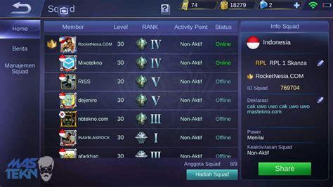 membuat nama mobile legend cara membuat squad di mobile legends dengan diamond