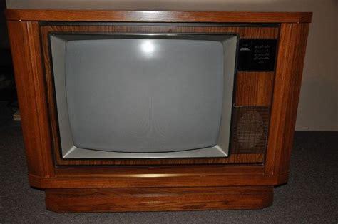 rca cabinet tv 1987 rca 25 quot console color tv vintage antique great