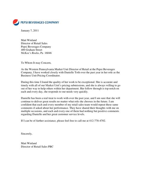 Recommendation Letter Retail Letter Of Recommendation From Matt Winland