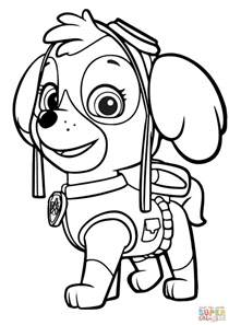 kolorowanka psi patrol skye kolorowanki dla dzieci druku