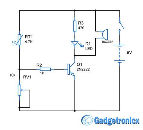 heat sensor circuit diagram electronic circuits