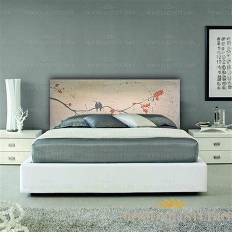 testata letto dipinta uccelli provenzali testiera da letto dipinta a mano