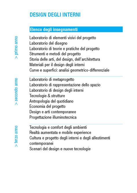 design d interni università corso di laurea in design degli interni