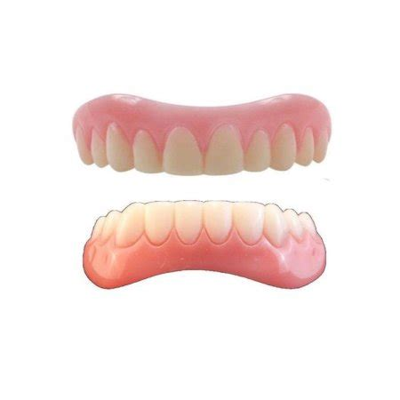 Medium Tooth Replika Cc instant smile teeth medium top and bottom veneers walmart