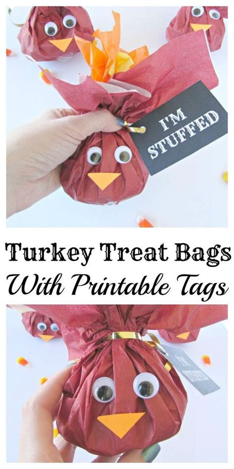 turkey lollipop printable treat bags thanksgiving and printable tags on pinterest
