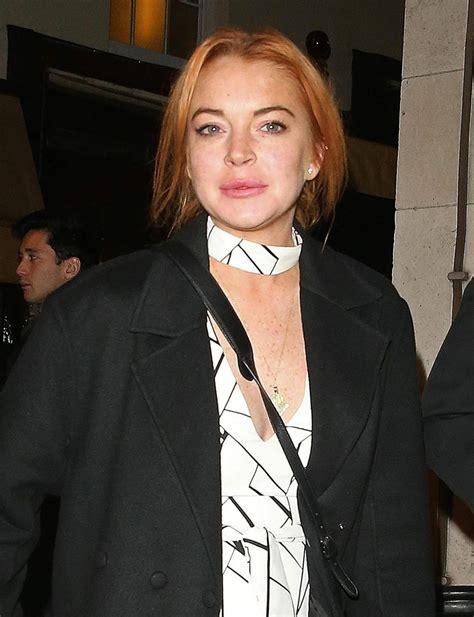 Lindsay Lohan by Lindsay Lohan Leaving Loulou S Members Club In