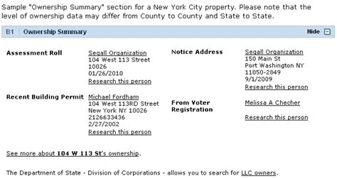 City Of Property Records New York City Property Owner Search New York City Property Ownership Search Ny