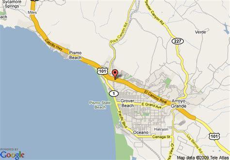 pismo california map map of quality inn pismo pismo