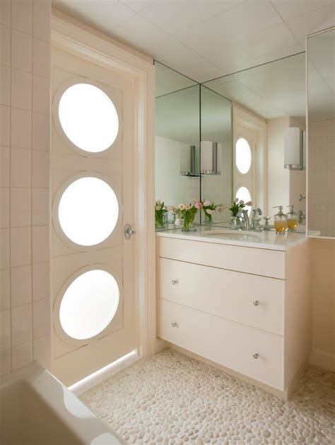 Modern Bathroom Door White Pebble Tile Deck Contemporary With Balcony Candles Coastal Container Beeyoutifullife