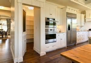 large pantry kitchen wall