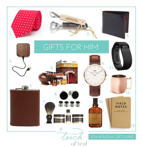 gifts to give your for 2014 gift guide gifts for him a touch of teal