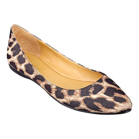 flat shoes nine west brown nine west speakup pointed toe flat in multicolor brown