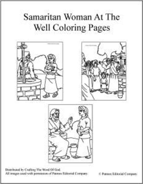 preschool coloring pages woman at the well 24 best jesus met a samaritan woman john 4 1 26 images on