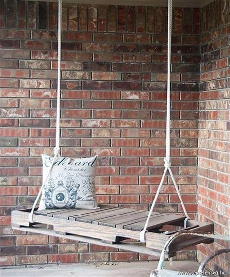 making a swing 40 diy pallet swing ideas 99 pallets