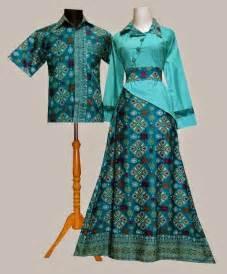 Desain baju batik sarimbit hijau kombinasi model baju batik