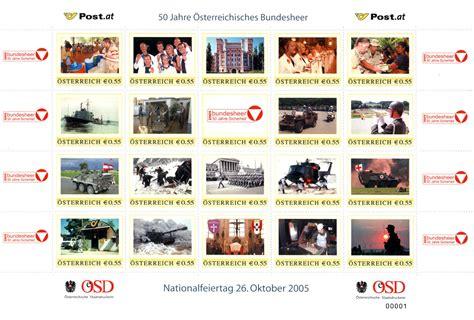 Lebenslauf Grundwehrdienst Ausbildung Bundesheer 50 Jahre Bundesheer Milit 228 R Und Philatelie Beim Nationalfeiertag 2005