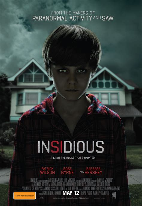 Insidious Movie Poster | related to our discussion on film violence insidious