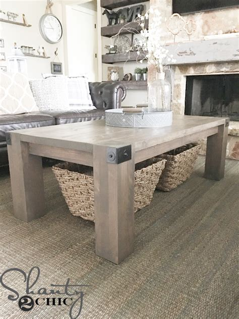 diy farmhouse coffee table modern farmhouse coffee table and how to video shanty 2 chic