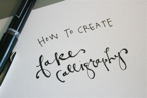 How To Make A Temporary With Regular Paper - how to create calligraphy tutorial practice