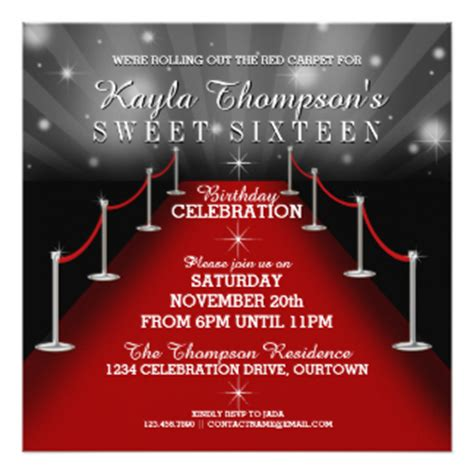 red carpet invitations amp announcements zazzle
