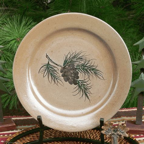 Northwoods Pinecone Dinner Plate
