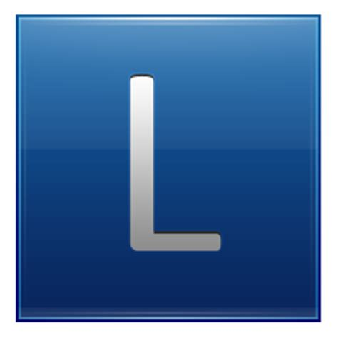 L Icon by Letter L Blue Icon Multipurpose Alphabet Iconset