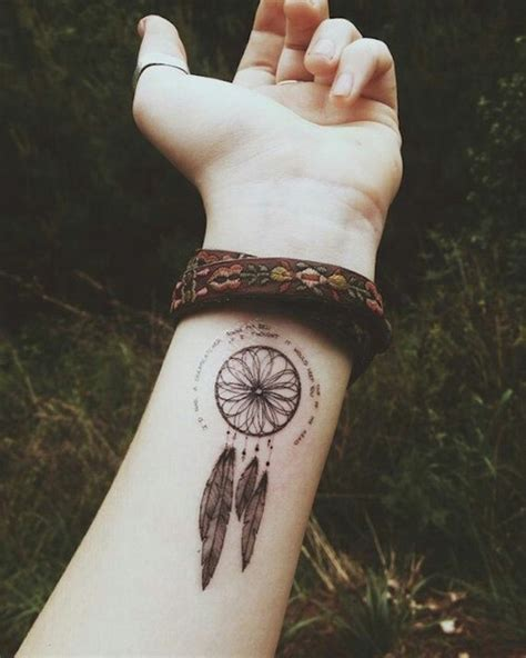 dreamcatcher wrist tattoos 166 dreamcatcher tattoos for a sleep