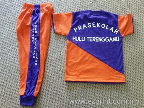 design baju tadika set pakaian sukan prasekolah hulu terengganu ezprint