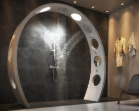 arched overhead shower is a luxurious of artwork
