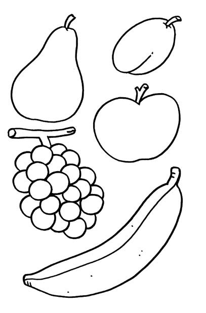 imagenes de uvas para recortar frutas variadas dibujalia dibujos para colorear