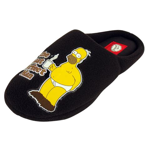 boys simpsons slippers mens family the simpsons slipper classic novelty mule