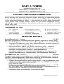 Executive Resume Example Marketing Account Executive Resume