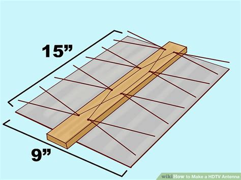 how to make a hdtv antenna 8 steps with pictures wikihow