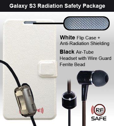 Headset Ferrite Bead samsung galaxy s3 radiation safety package rf radio frequency safe