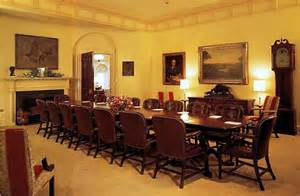 Western Dining Room Table inside the white house abode